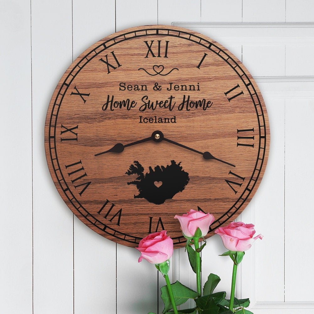Fashionable Laser Engraved Home Sweet Home Wall Decor Within Iceland Housewarming Gift – Icelandic Decor – Iceland Map – Nordic (View 6 of 20)