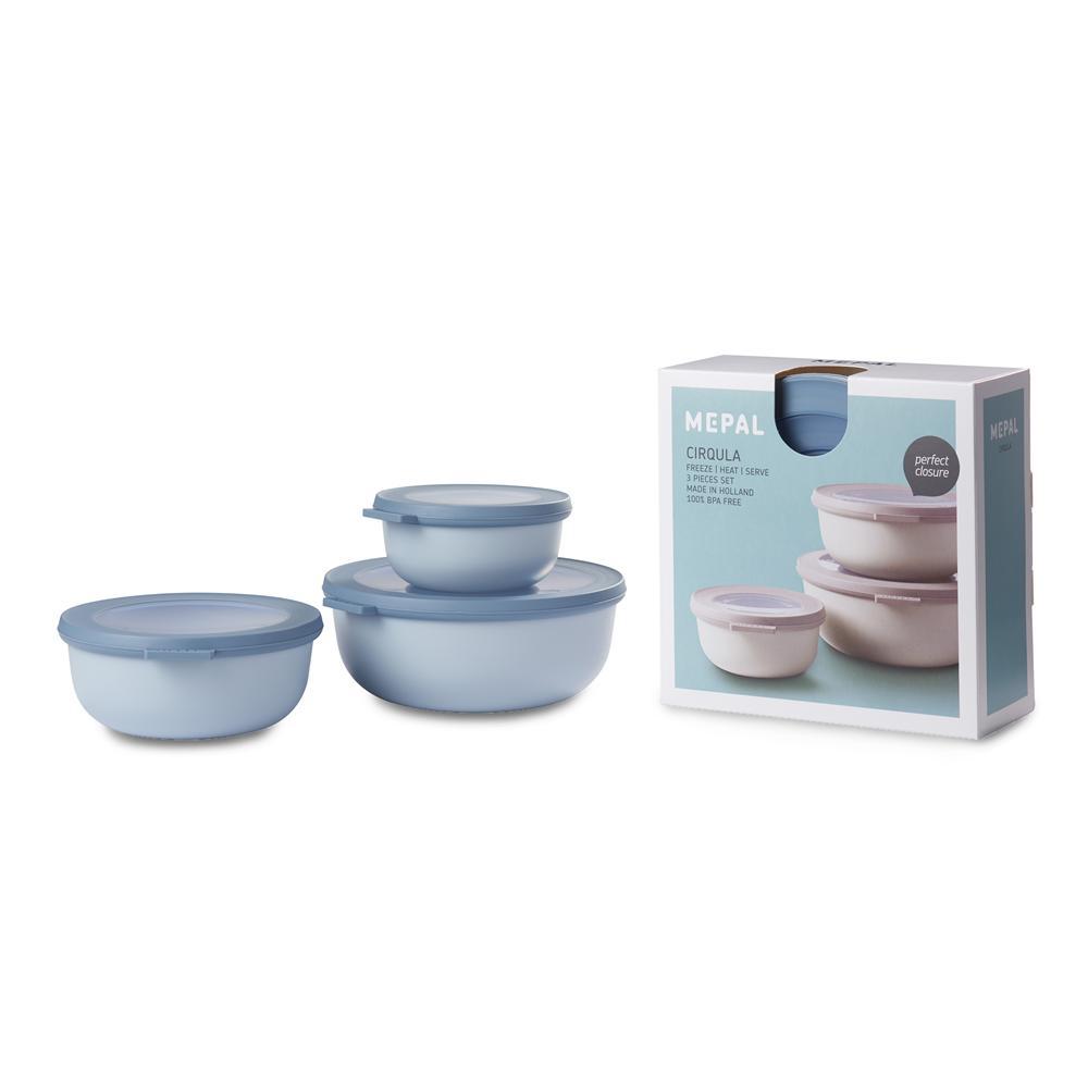 Fashionable Mepal Cirqula Storage Bowl Set Shallow 3Pc With Regard To Decorative Three Stacked Coffee Tea Cups Iron Widget Wall Decor (View 9 of 20)
