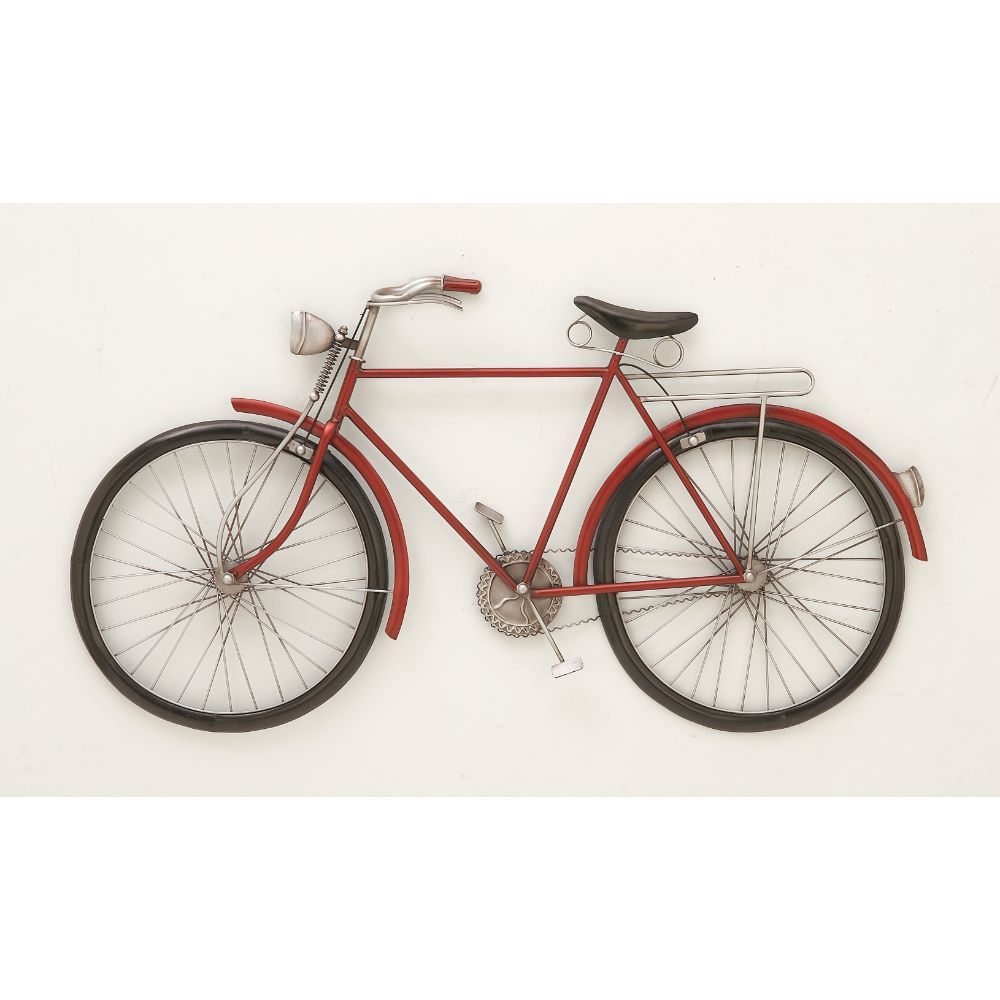 Fashionable Metal Red Bike Wall Decor – Walmart Intended For Popular Bike Wall Decor (View 10 of 20)