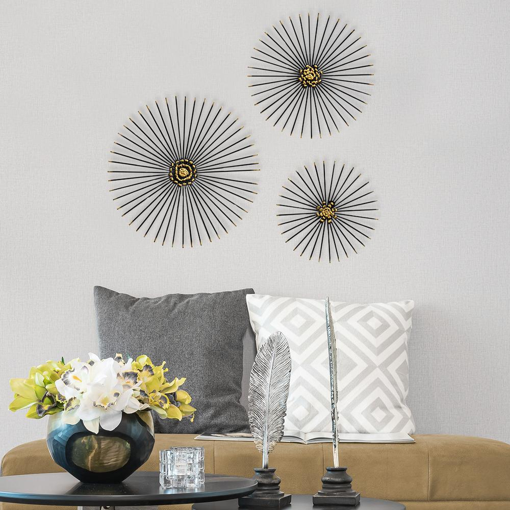 Fashionable Starburst Wall Decor Throughout Stratton Home Decor Trio Starburst Wall Decor S07674 – The Home Depot (View 7 of 20)