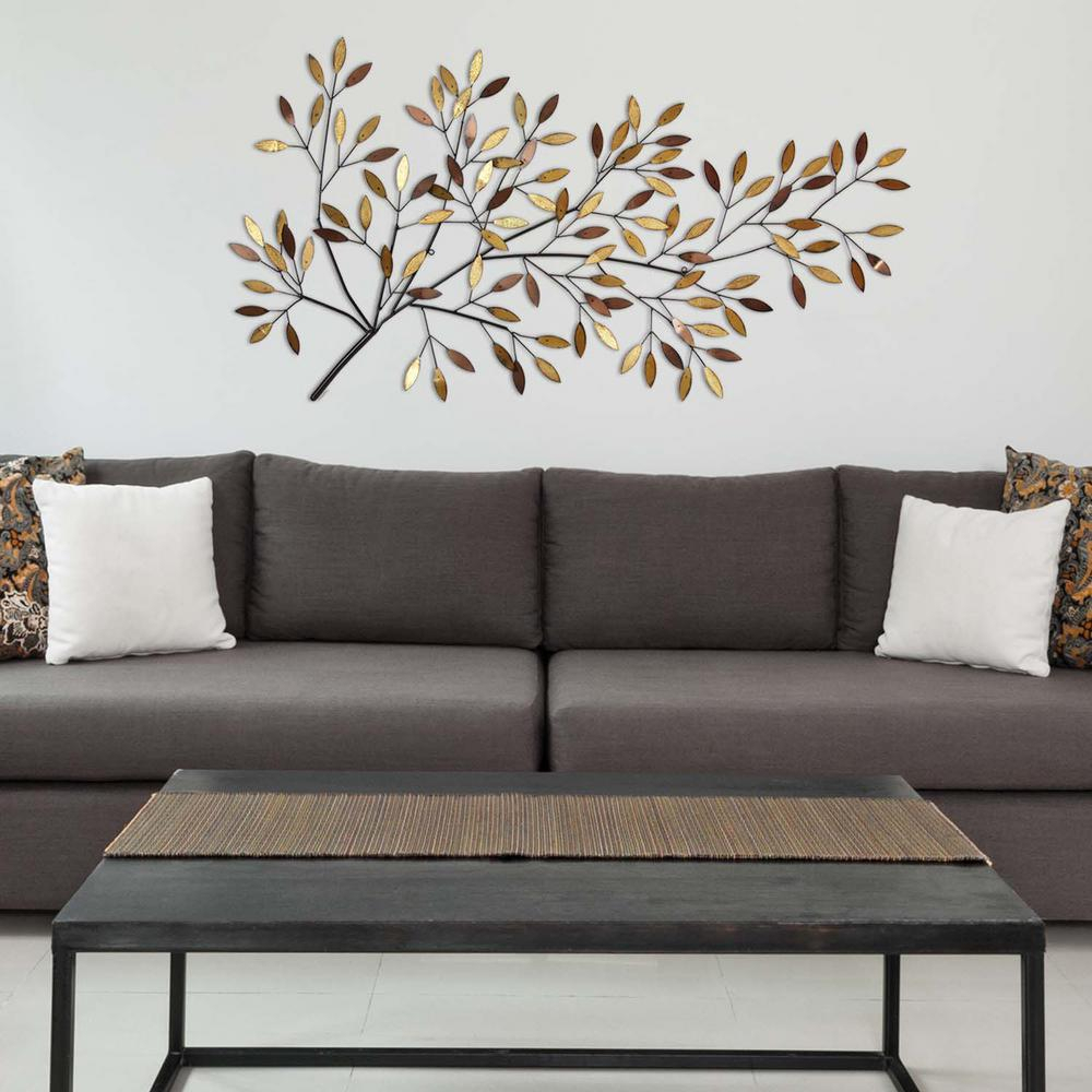 Fashionable Stratton Home Decor Blooming Tree Branch Metal Wall Decor S01221 Inside Flowing Leaves Wall Decor (View 7 of 20)