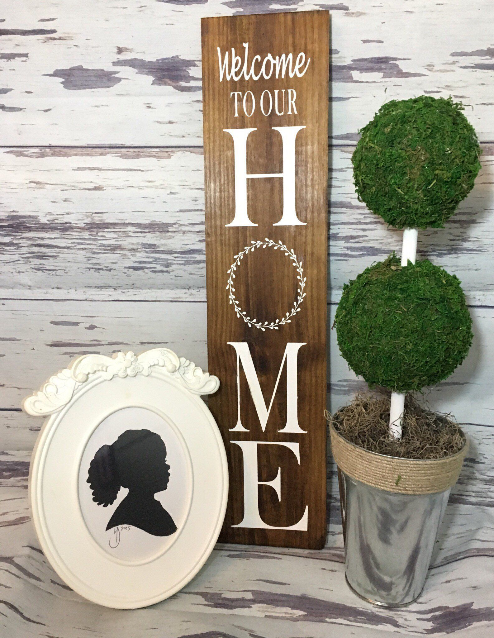 Fashionable Welcome To Our Home Sign ~ Welcome ~ Welcome Sign ~ Rustic Welcome In Tree Welcome Sign Wall Decor (View 5 of 20)