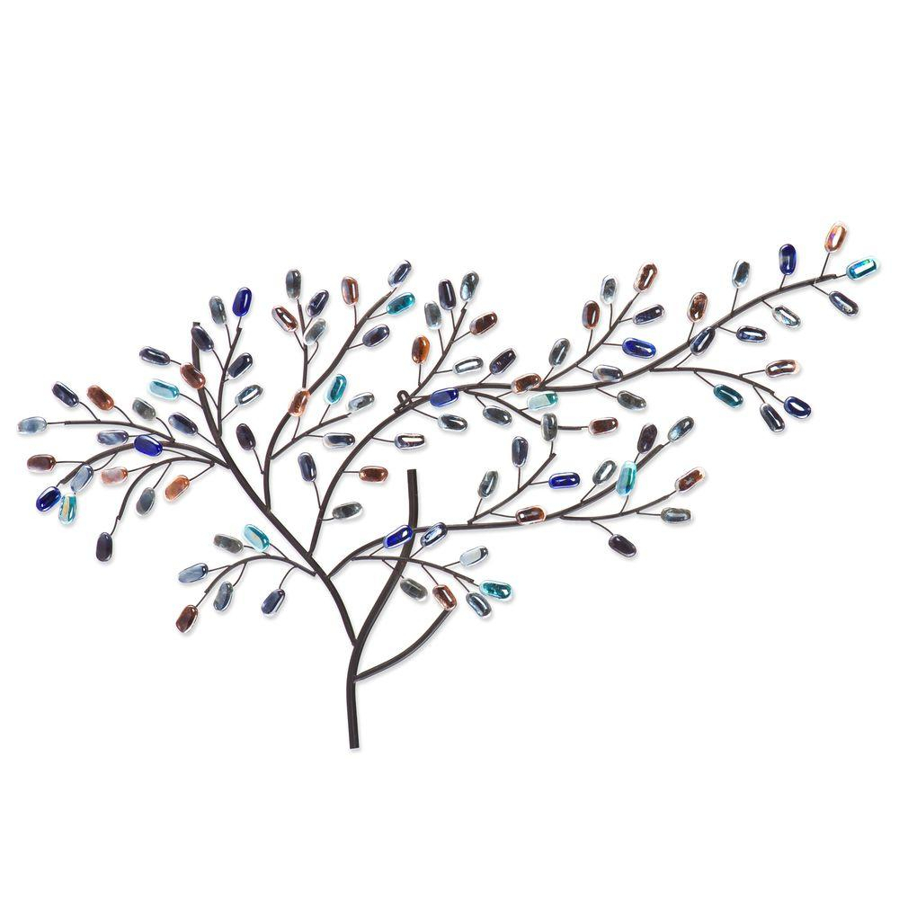 Fashionable Windswept Tree Wall Decor With Southern Enterprises Herzer Metal/glass Tree Decorative Wall (View 7 of 20)