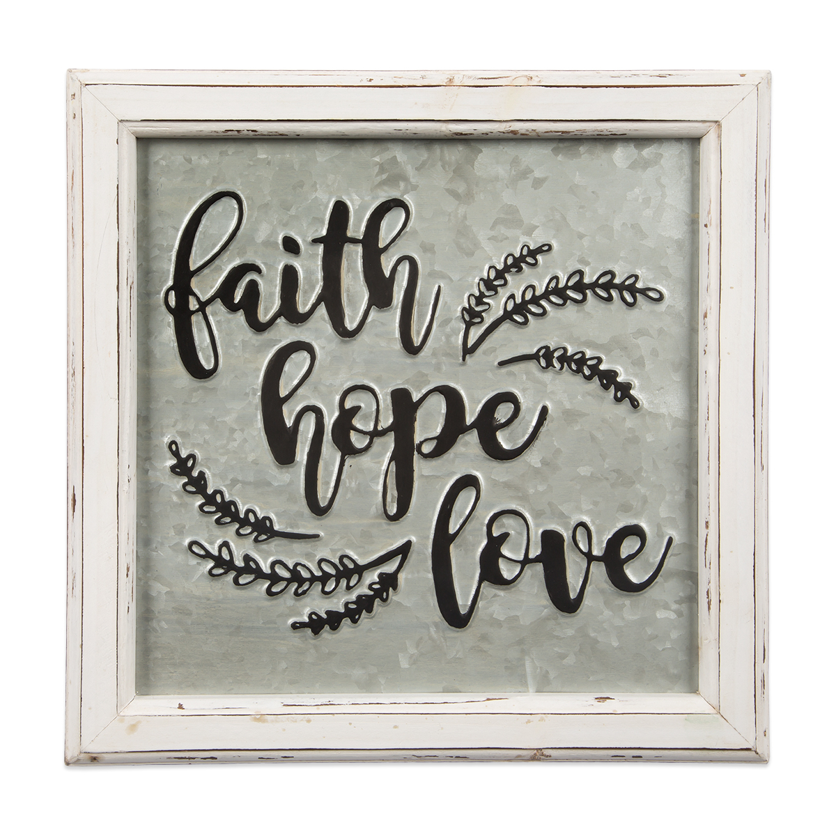 Favorite Faith, Hope, Love Raised Sign Wall Decor Intended For Faith Hope Love Embossed Metal Sign (View 11 of 20)