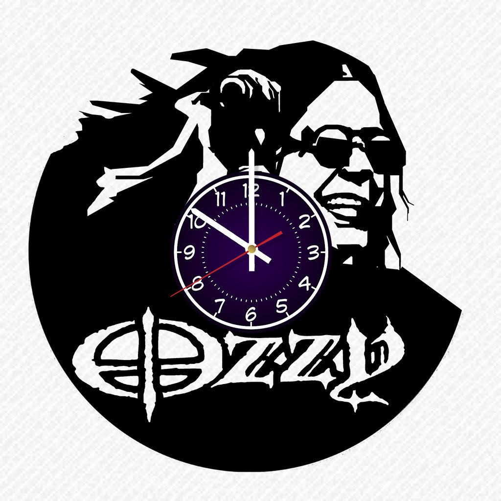 Favorite Ozzy Osbourne Vinyl Record 12 Inch Wall Clock Room Wall Decor