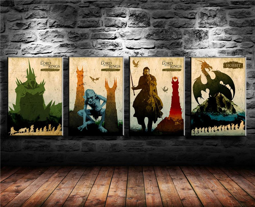 Favorite Rings Wall Decor In 2019 Lord Of The Rings 3,canvas Prints Wall Art Oil Painting Home (View 4 of 20)