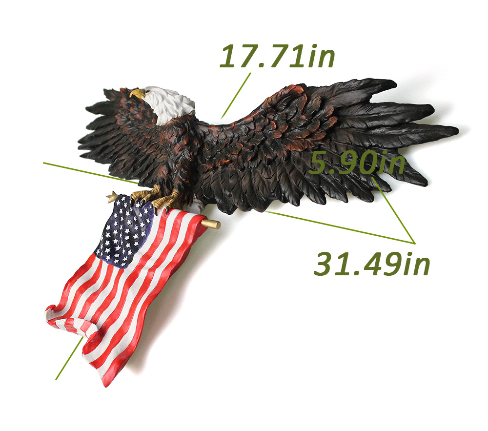Favorite Shop For 3D American Eagle Wall Sculptures, Hanging Mount Art Wall Inside American Pride 3D Wall Decor (View 15 of 20)