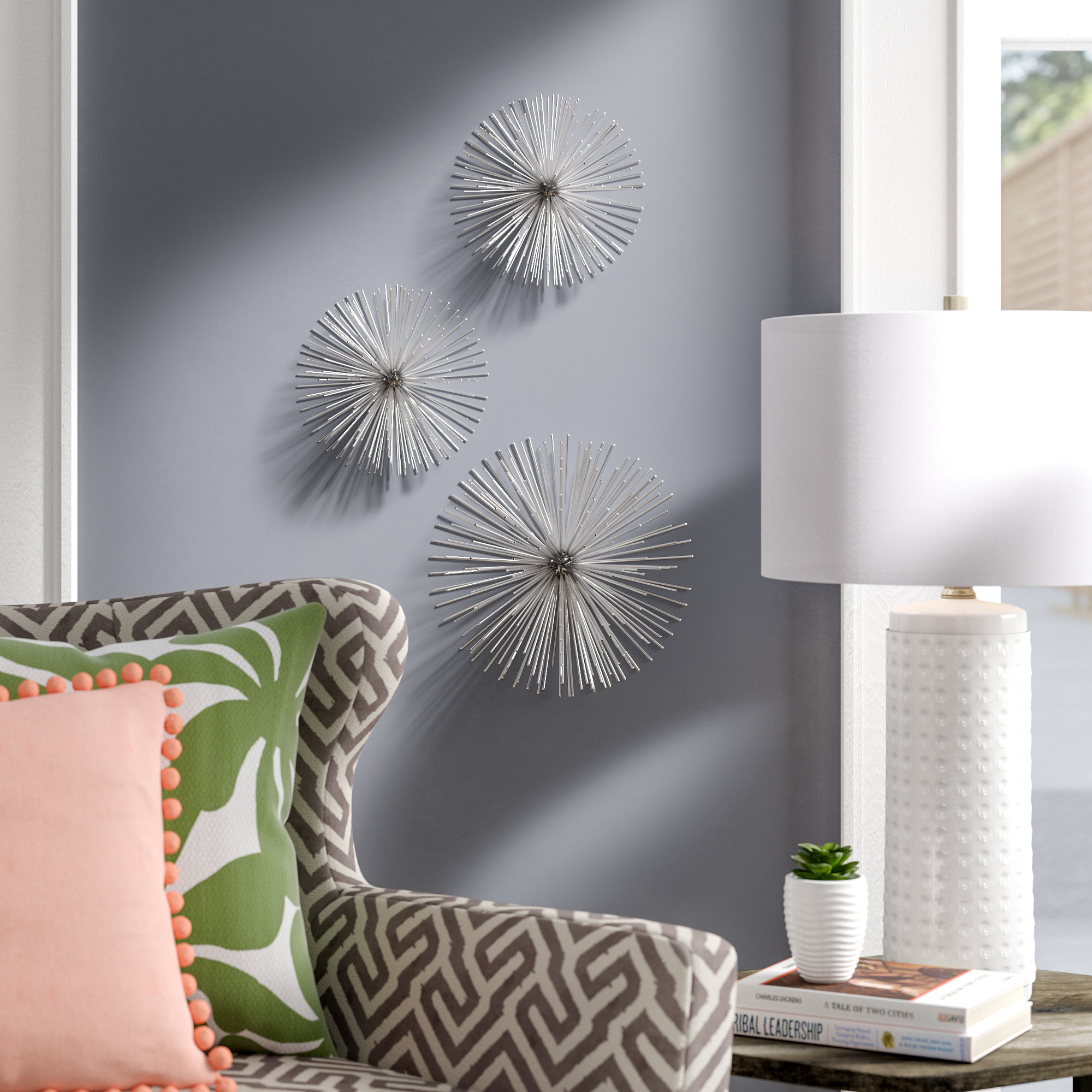 Favorite Starburst Wall Decor Within Wrought Studio Alvarez Starburst Wall Décor & Reviews (View 17 of 20)
