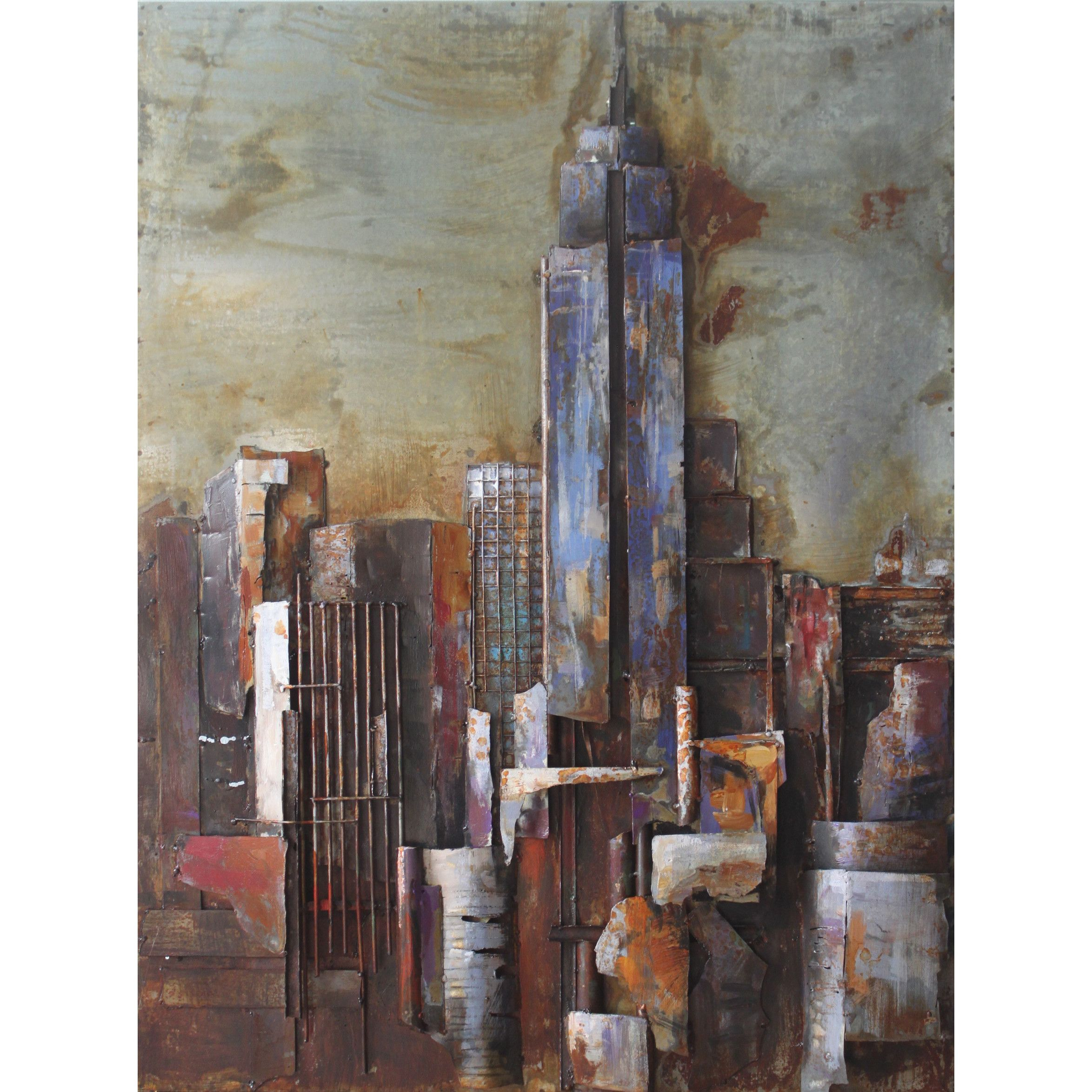 """Favorite The Empire State Building"""" Mixed Media Iron Hand Painted Dimensional For Mixed Media Iron Hand Painted Dimensional Wall Decor (View 6 of 20)"""