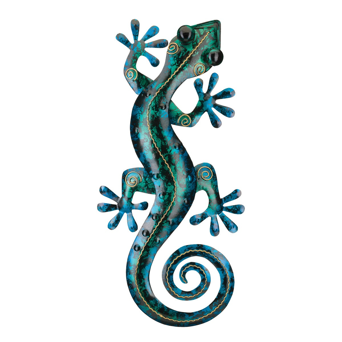 Favorite Turquoise Gecko Metal Wall Art – 19 Inch Pertaining To Gecko Wall Decor (View 8 of 20)