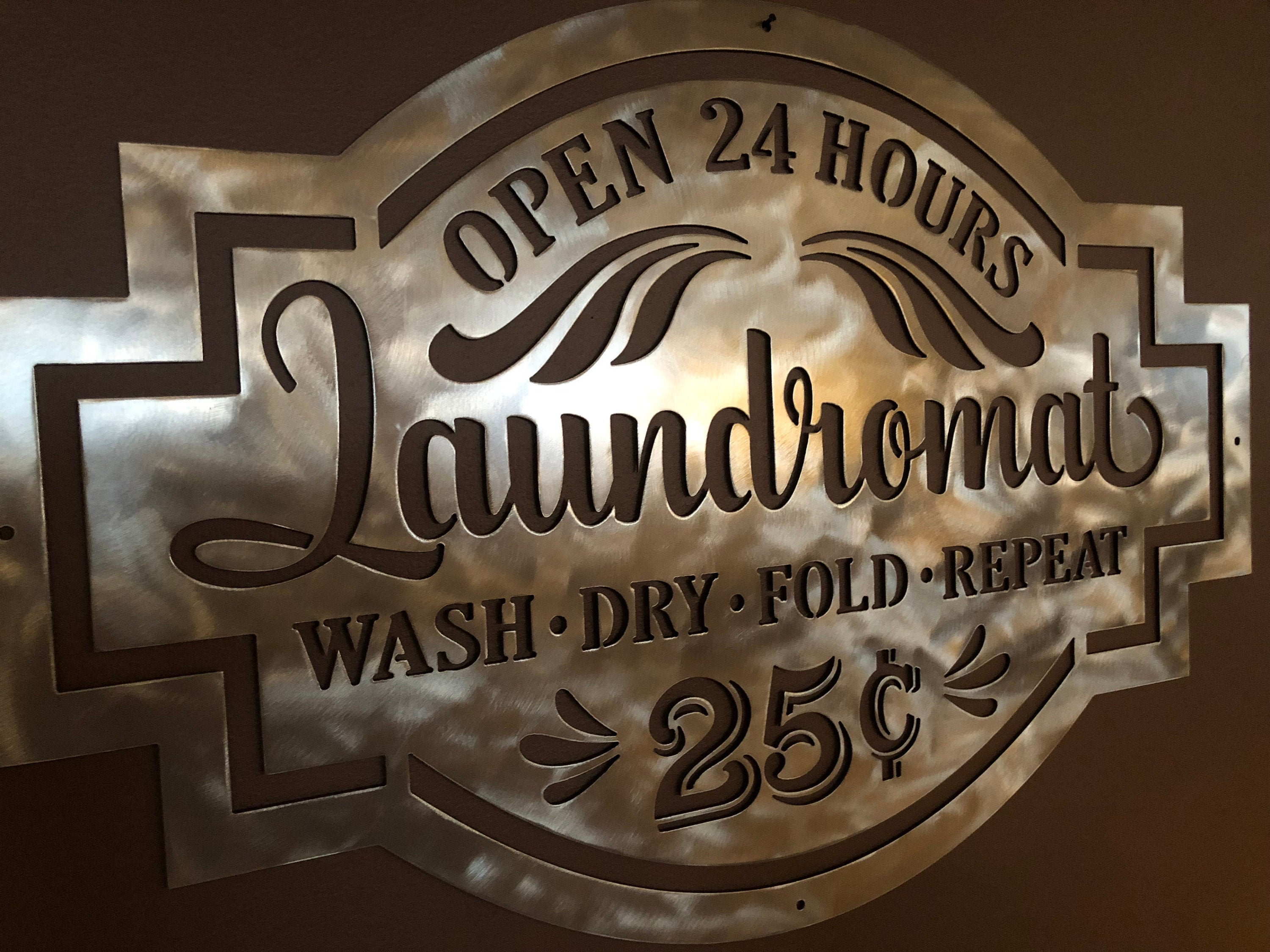 Favorite Vintage Metal Laundry Sign/metal Laundromat Sign/laundry Room (View 5 of 20)