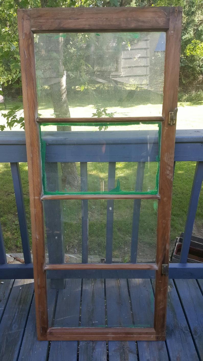 Favorite Vintage Old Window Frame 4 Pane Old Reclaimed Window Wood (View 4 of 20)