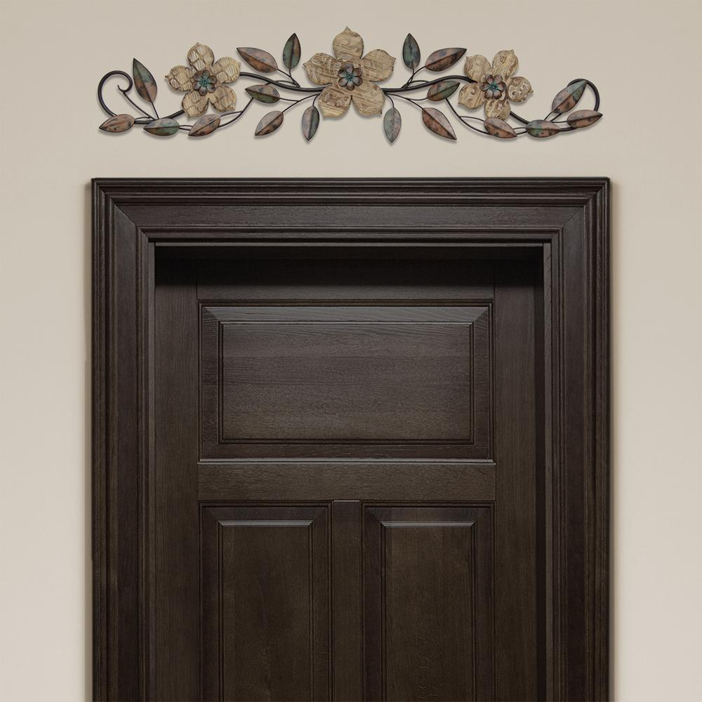 Featured Photo of Floral Patterned Over the Door Wall Decor