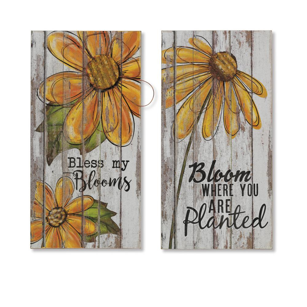 Flower And Butterfly Urban Design Metal Wall Decor In Most Popular Gerson Asst 23.5 In (View 16 of 20)