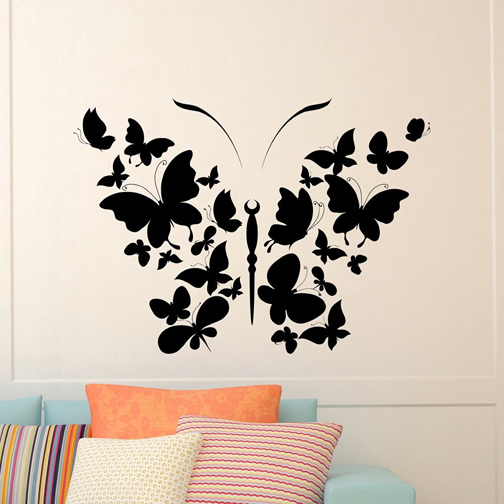 Flower And Butterfly Urban Design Metal Wall Decor Intended For Best And Newest Cheap Butterfly Wall Design, Find Butterfly Wall Design Deals On (View 15 of 20)