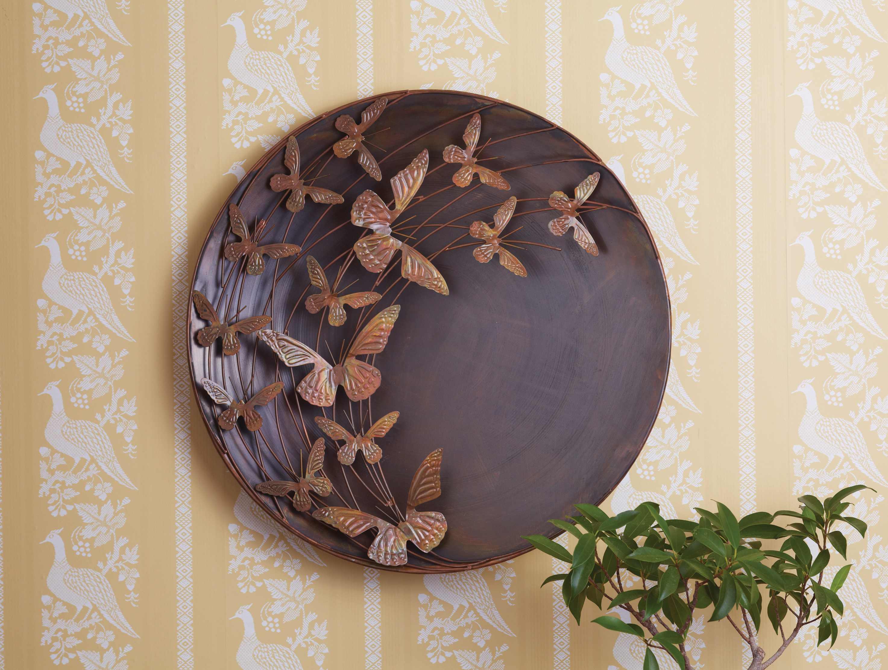 Flower And Butterfly Urban Design Metal Wall Decor Pertaining To Most Up To Date Metal Butterfly Wall Art – Large Outdoor Metal Wall Art – 3D (View 12 of 20)