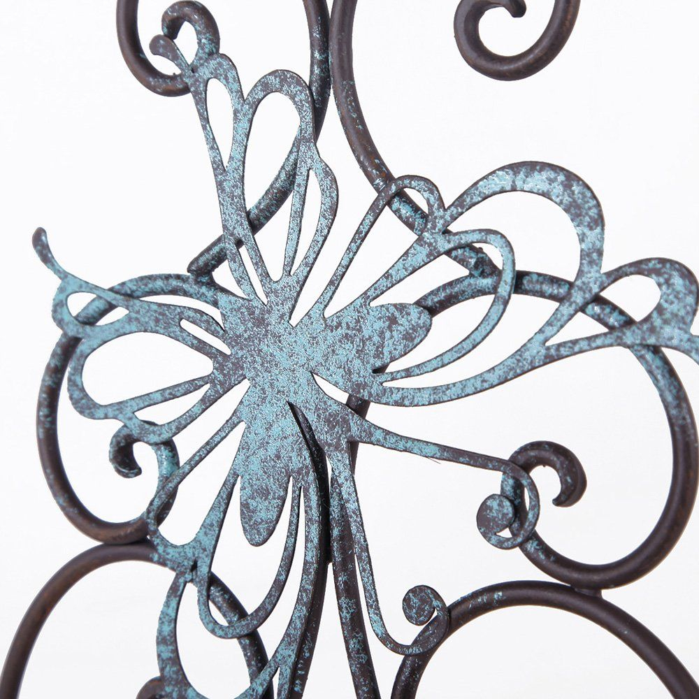 Flower Urban Design Metal Wall Decor for Well-known Adeco Flower And Butterfly Urban Design Metal Wall Decor For Nature