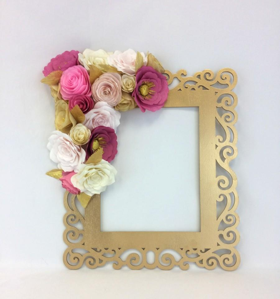 Flower Wall Decor for Recent Floral Frame, Photo Prop, 3D Flower Wall Art, Paper Flower Wall