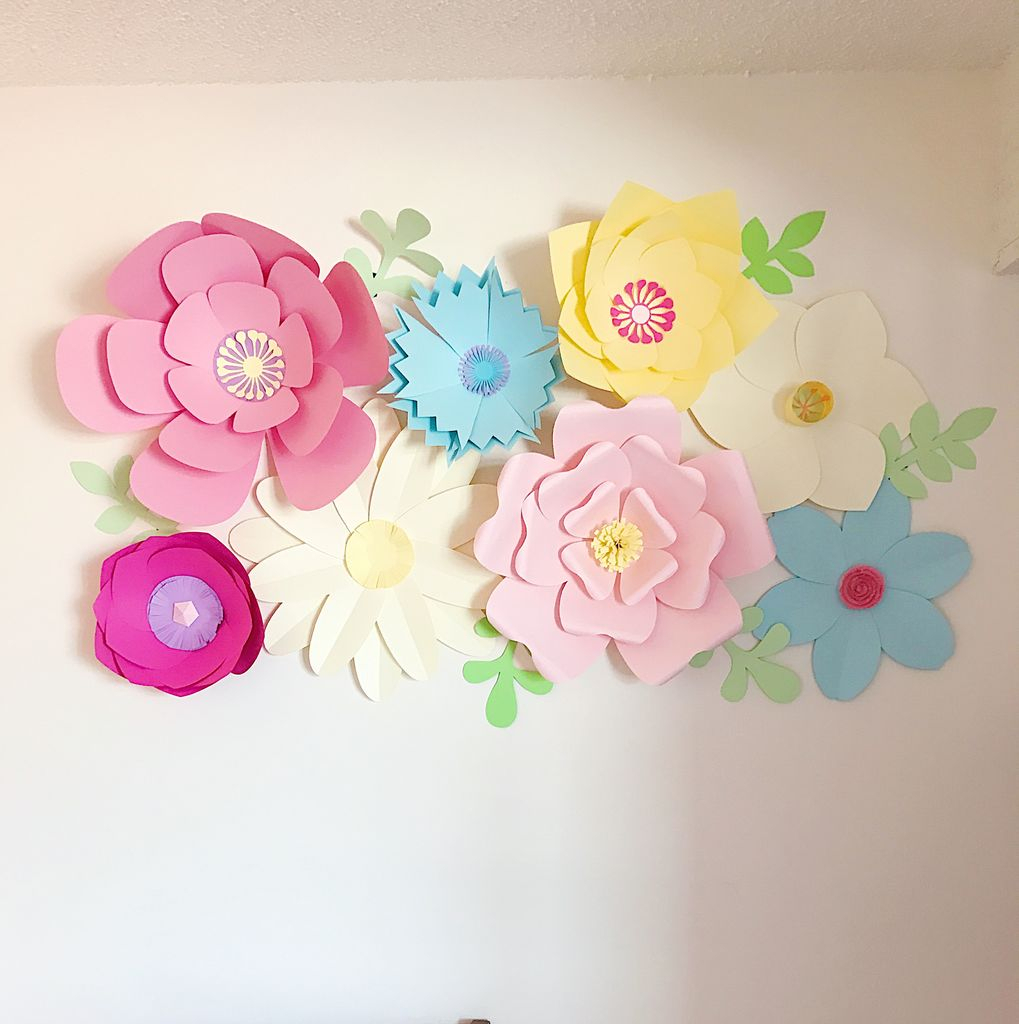 Flower Wall Decor intended for Most Recent Giant Paper Flower Wall Decor: 16 Steps (With Pictures)