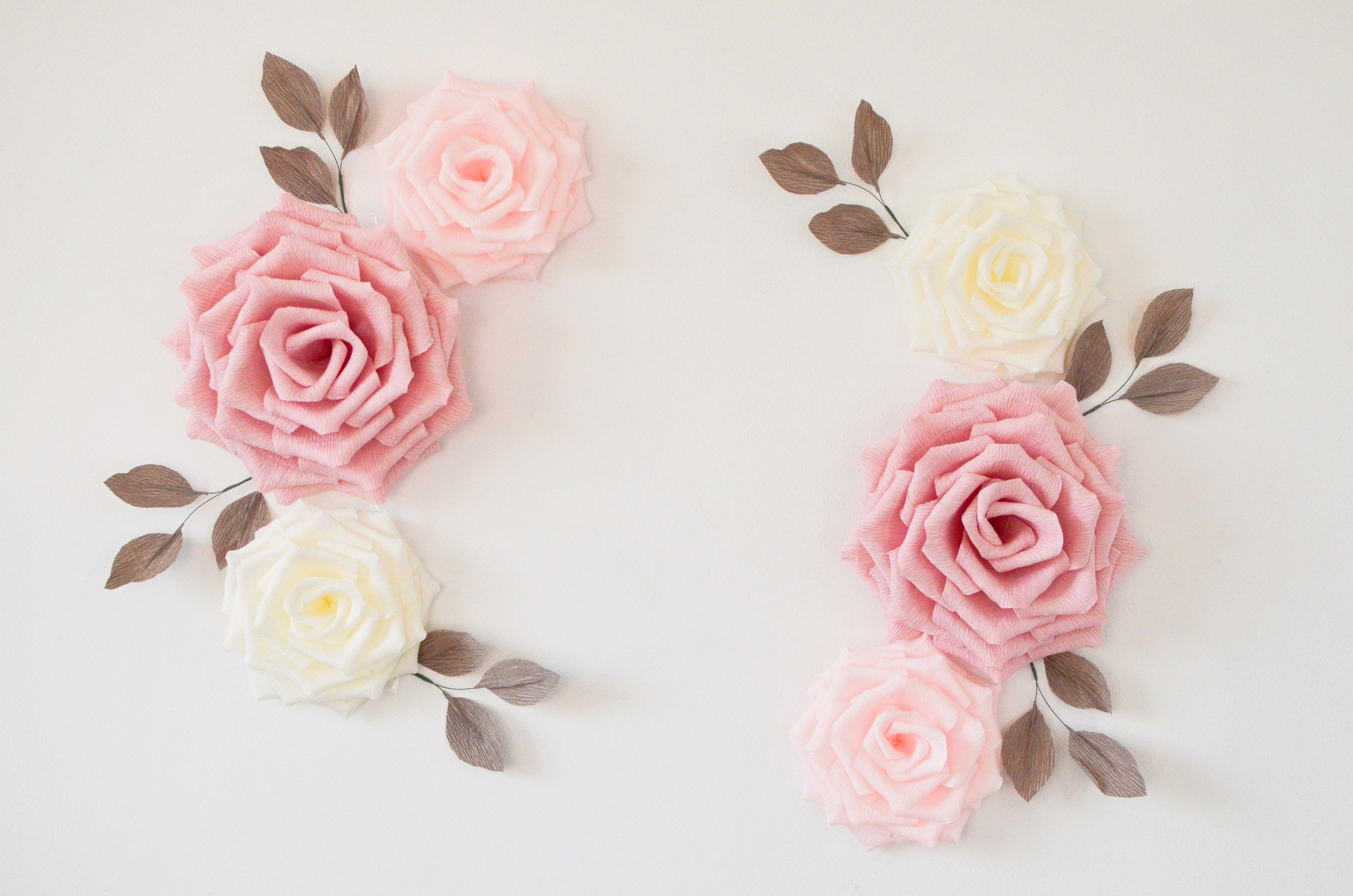 Flower Wall Decor Throughout Well Known Paper Flowers Wall Decor Nursery Flowers Wall Flowers Paper (View 11 of 20)