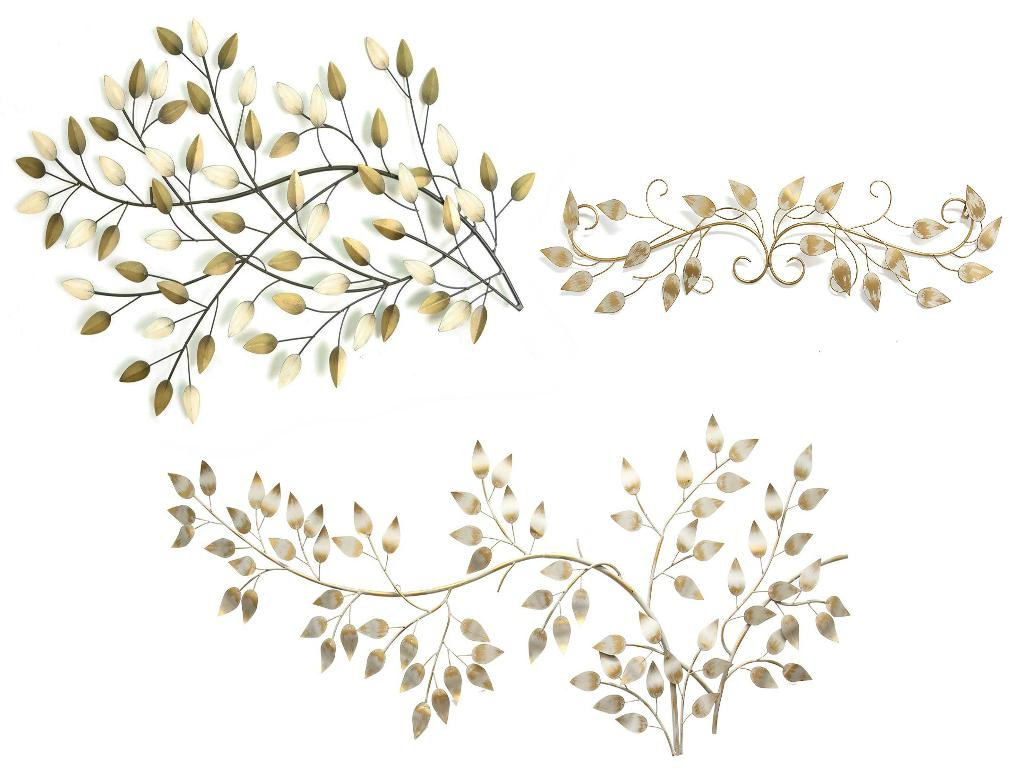 Flowing Leaves Wall Decor Intended For Fashionable Stratton Home Decor Stratton Home Blowing Leaves Wall Decor, Brushed (View 3 of 20)