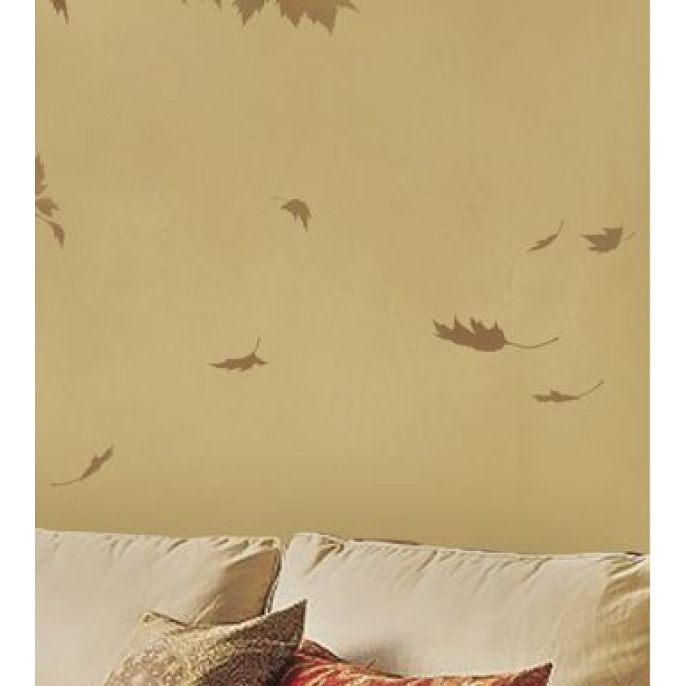 Flowing Leaves Wall Decor pertaining to Famous Leaf Stencil For Wall Decor. Reusable Wall Stencilscutting Edge