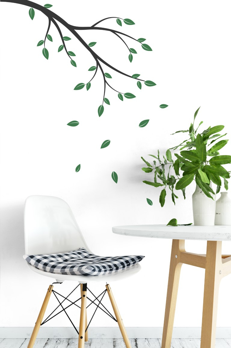 Flowing Leaves Wall Decor With Most Recently Released Branches With Falling Leaves Wall Sticker (View 11 of 20)