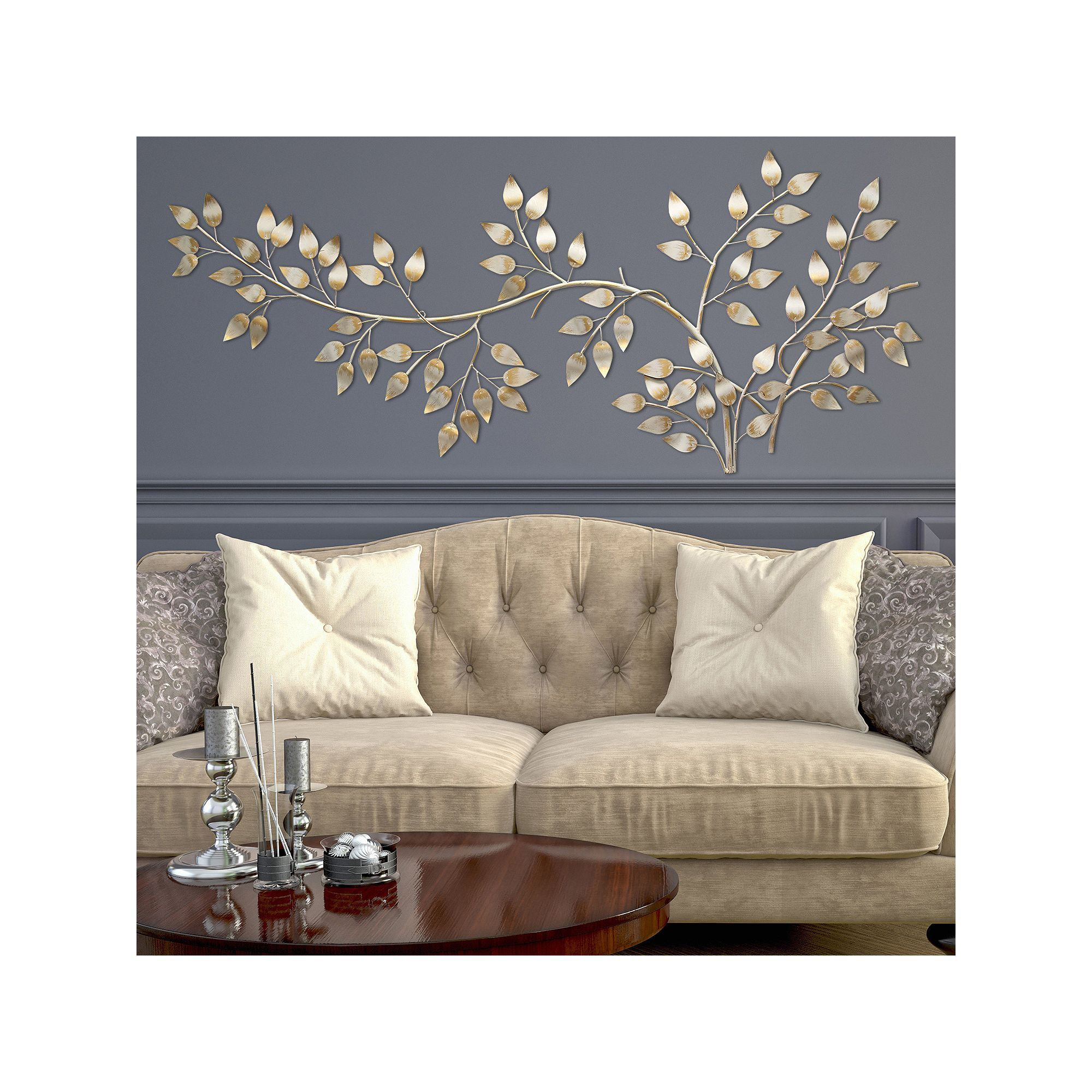 Flowing Leaves Wall Decor With Regard To 2020 Stratton Home Decor Flowing Leaves Metal Wall Decor In (View 4 of 20)