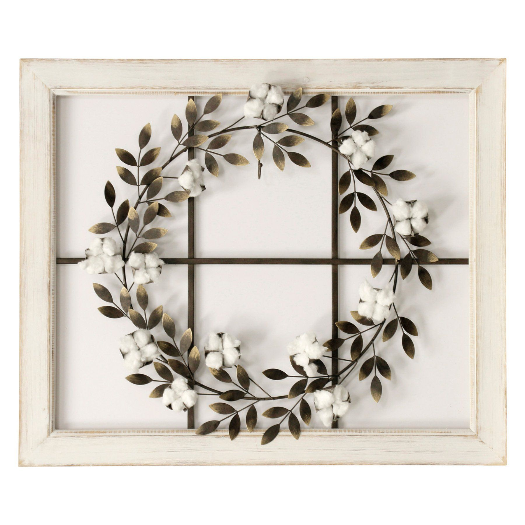 Frame With Most Popular Floral Wreath Wood Framed Wall Decor (View 11 of 20)