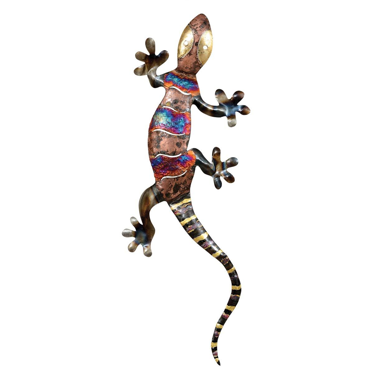 Gecko Wall Decor Within Well Known Rustic Metal Wall Art: Extra Extra Large Copper Dripped Gecko Metal (Gallery 4 of 20)