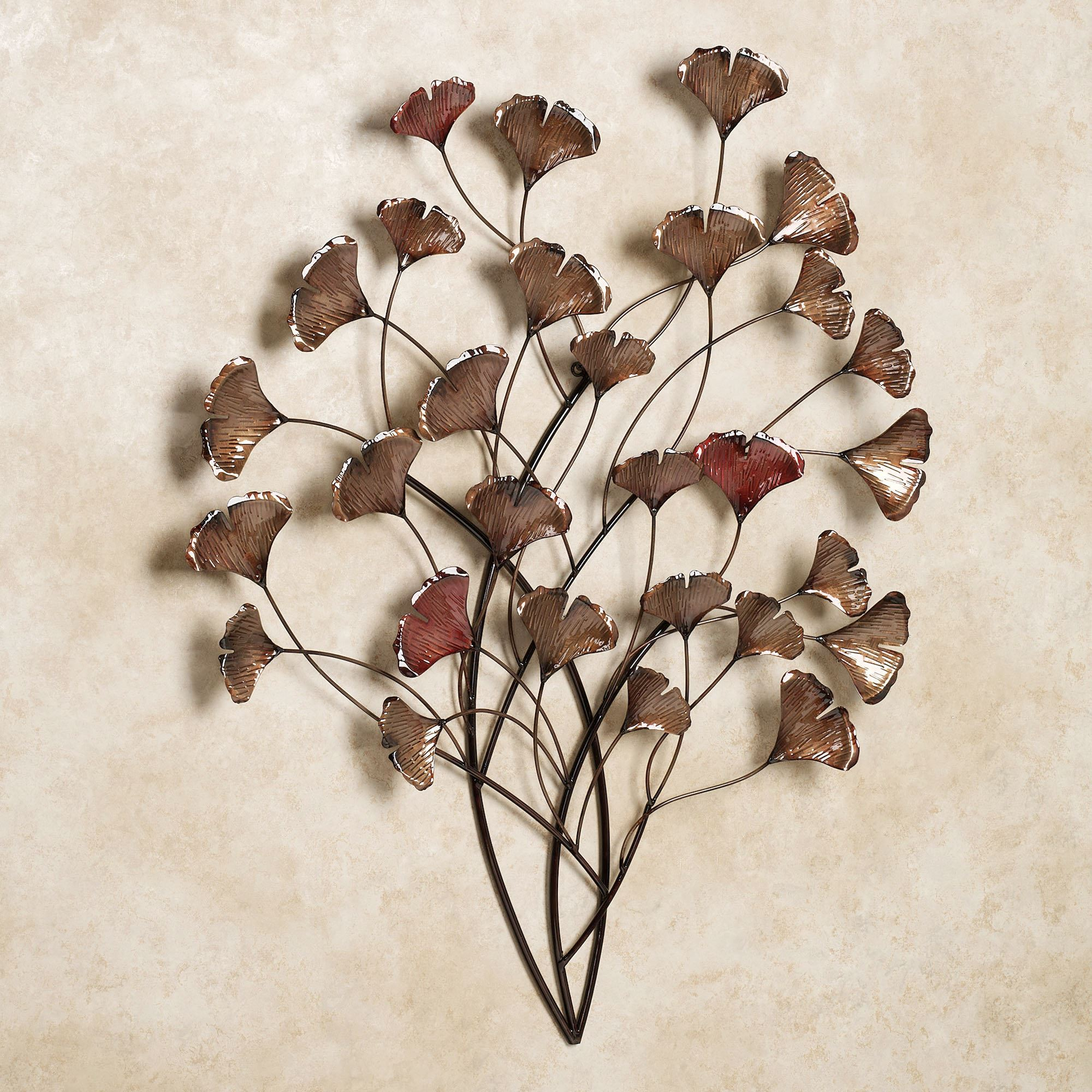 Ginkgo Whispers Metal Wall Sculpture Pertaining To Most Popular Leaves Metal Sculpture Wall Decor (View 7 of 20)