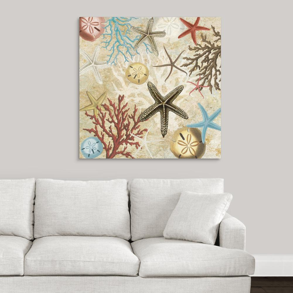 """Greatbigcanvas 36 In. X 36 In. """"coral Menagerie I""""carole Stevens In Best And Newest Wall Decor By World Menagerie (Gallery 14 of 20)"""