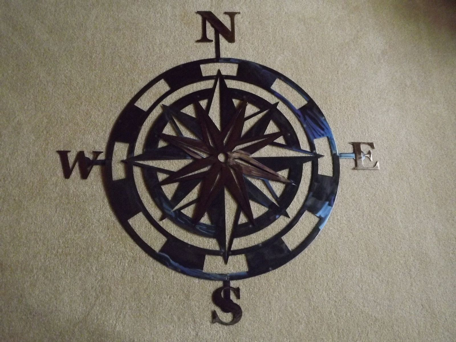 Handmade 36 Inch Metal Compass Rose Wall Artsuperior Iron Artz With Well Liked Round Compass Wall Decor (View 13 of 20)