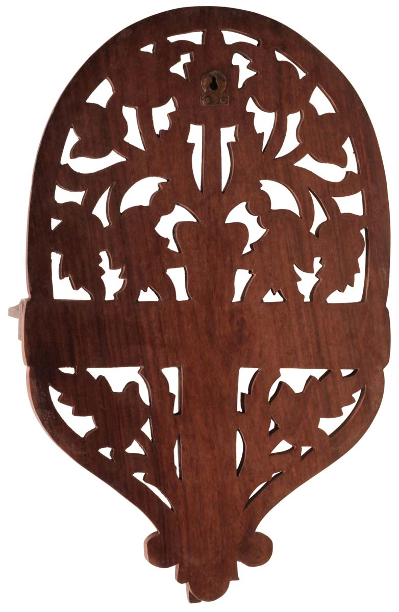 Handmade Wall Shelf In Indian Wood – Intricately Carved With Floral Intended For Newest Floral Patterned Over The Door Wall Decor (Gallery 13 of 20)