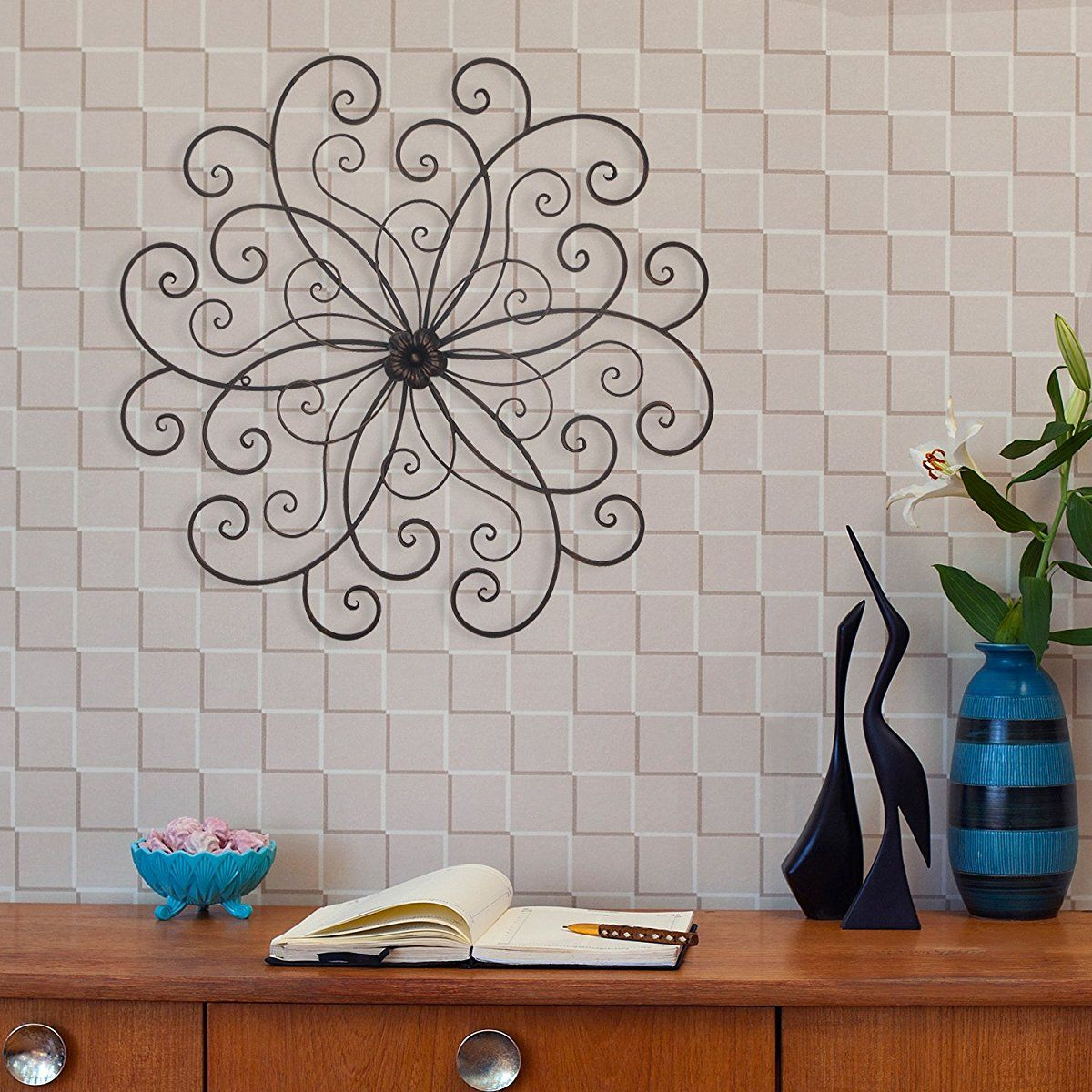 Homes Art Bronze Flower Urban Design Metal Wall Decor For Nature With Well Known Flower Urban Design Metal Wall Decor (View 9 of 20)
