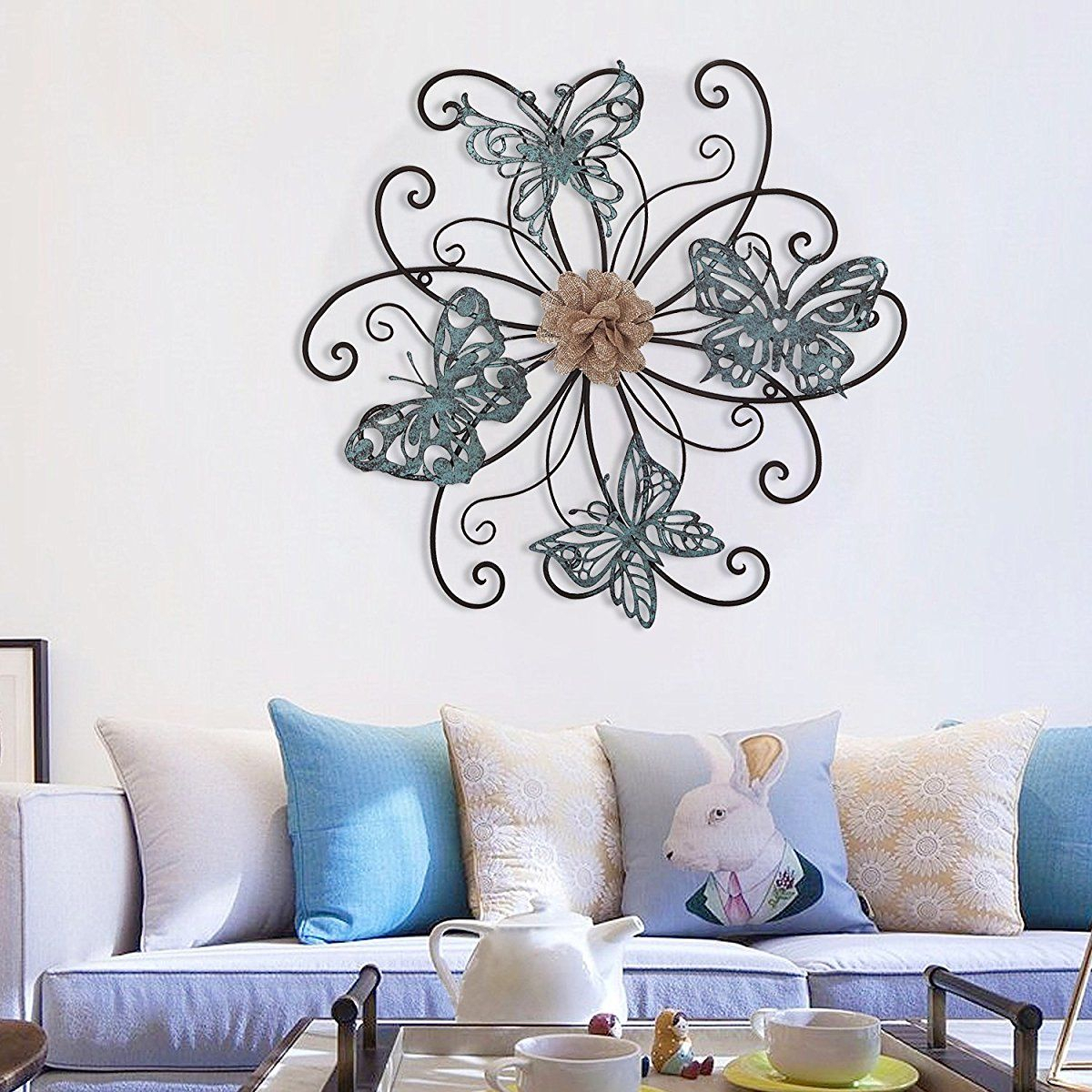 Homes Art Flower And Butterfly Urban Design Metal Wall Decor For Intended For Most Recently Released Flower And Butterfly Urban Design Metal Wall Decor (Gallery 7 of 20)