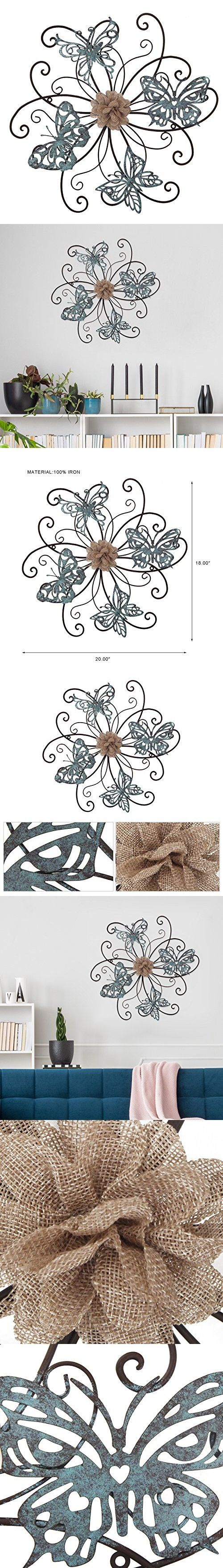 Home's Art Flower And Butterfly Urban Design Metal Wall Decor For With Newest Flower And Butterfly Urban Design Metal Wall Decor (Gallery 13 of 20)