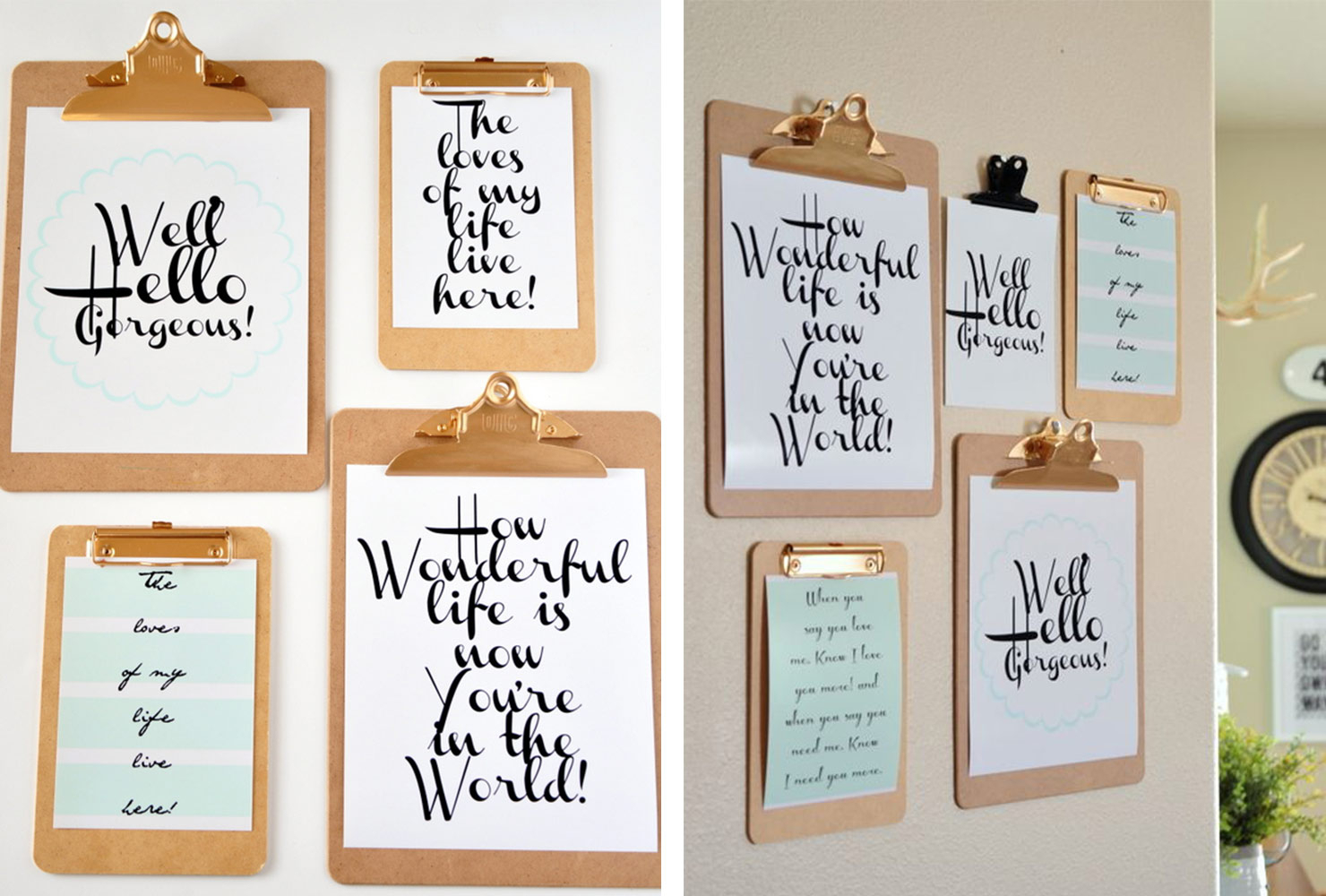 """In A Word """"welcome"""" Wall Decor Within Fashionable 25 Unique Diy Wall Art Ideas (With Printables) (Gallery 13 of 20)"""