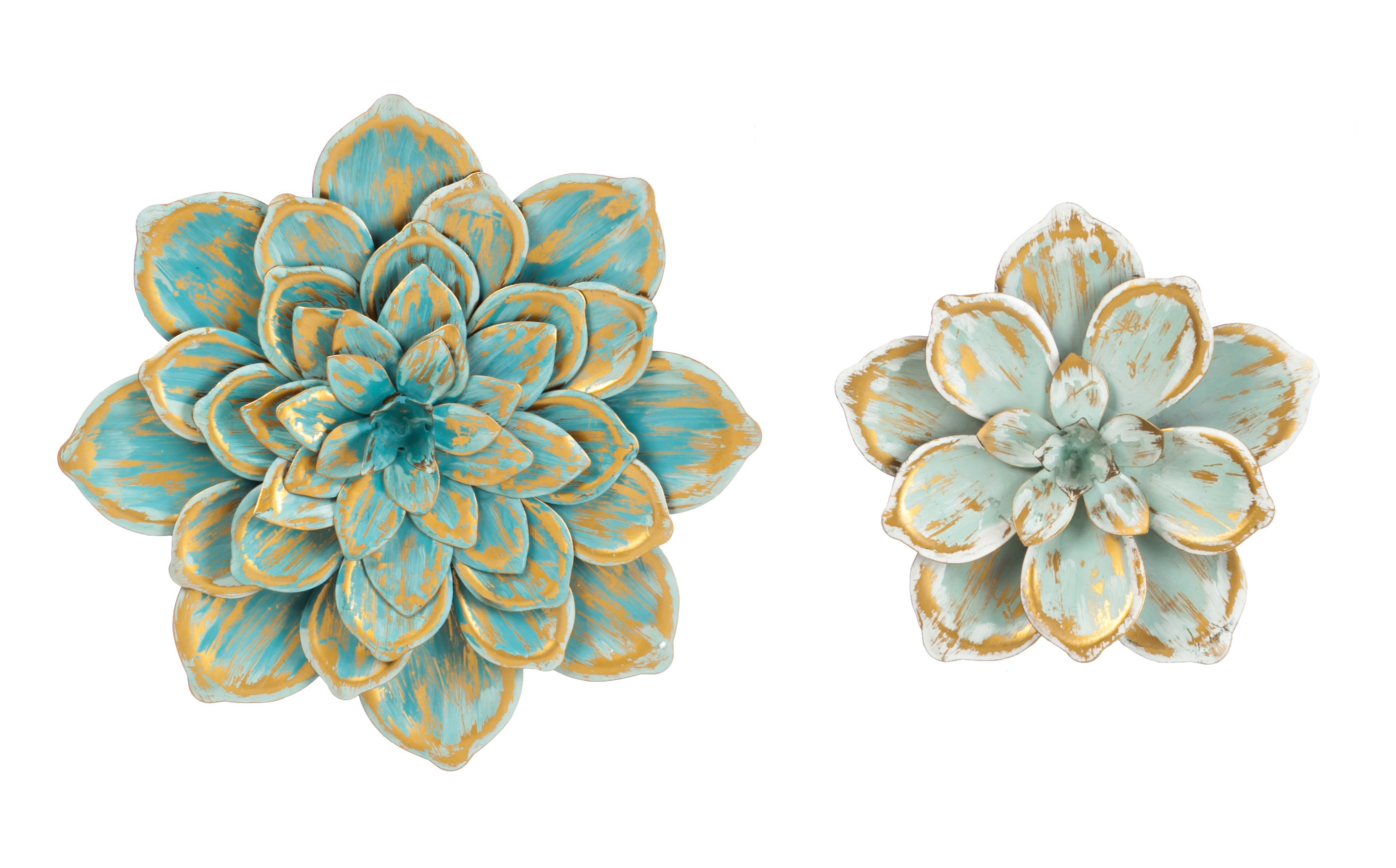Featured Photo of 2 Piece Multiple Layer Metal Flower Wall Decor Sets