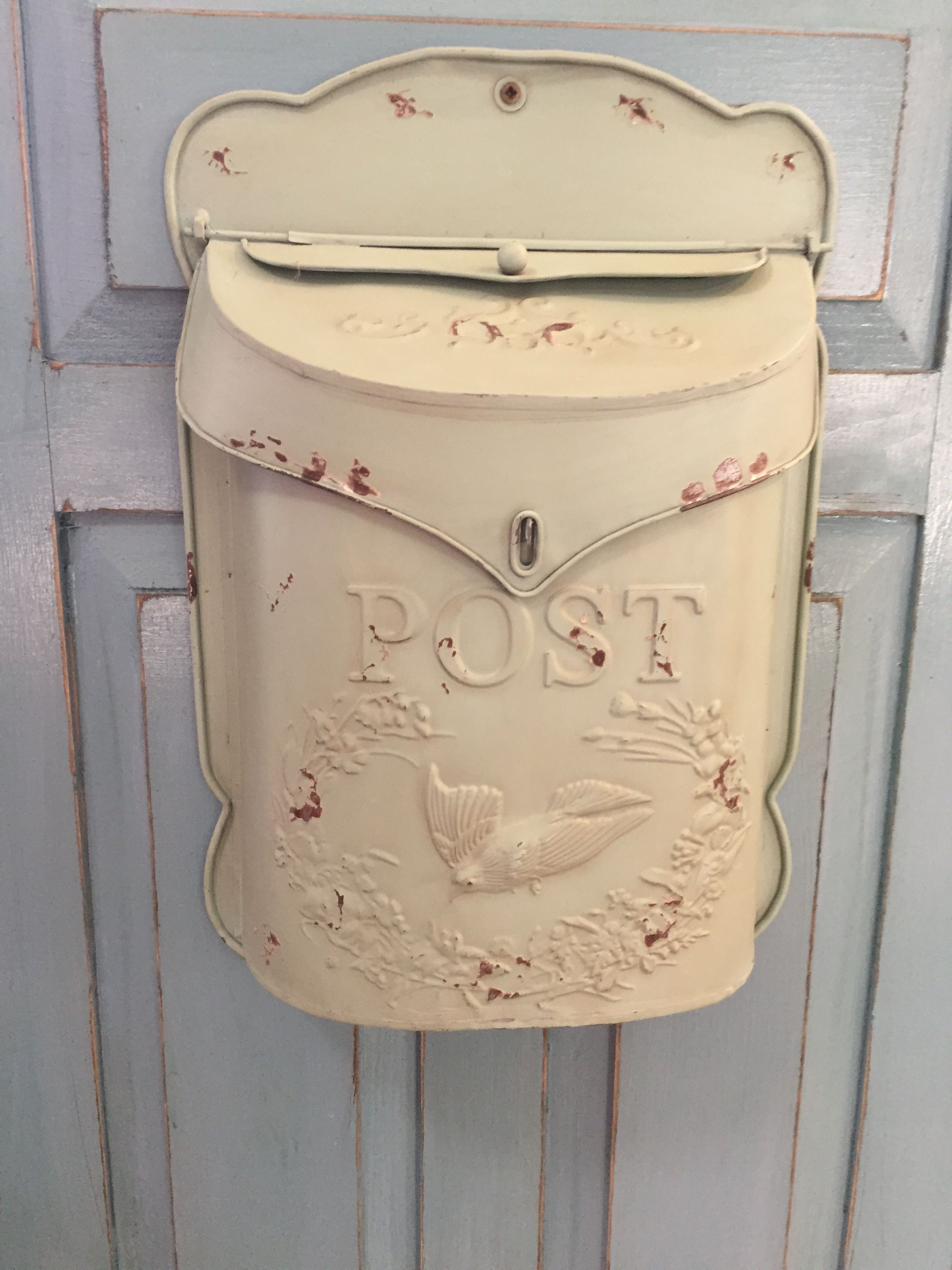Lacordaire Wall Mounted Mailbox in Recent Reproduction Vintage Mail Box. I Attached This To The Front Of The