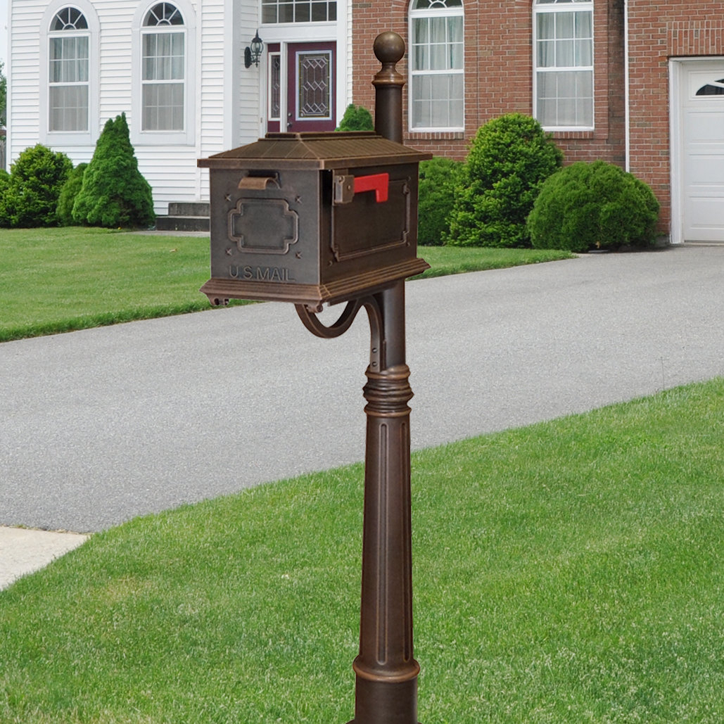 Lacordaire Wall Mounted Mailbox Within Well Known Special Lite Products Kingston Mailbox With Post Included (View 14 of 20)