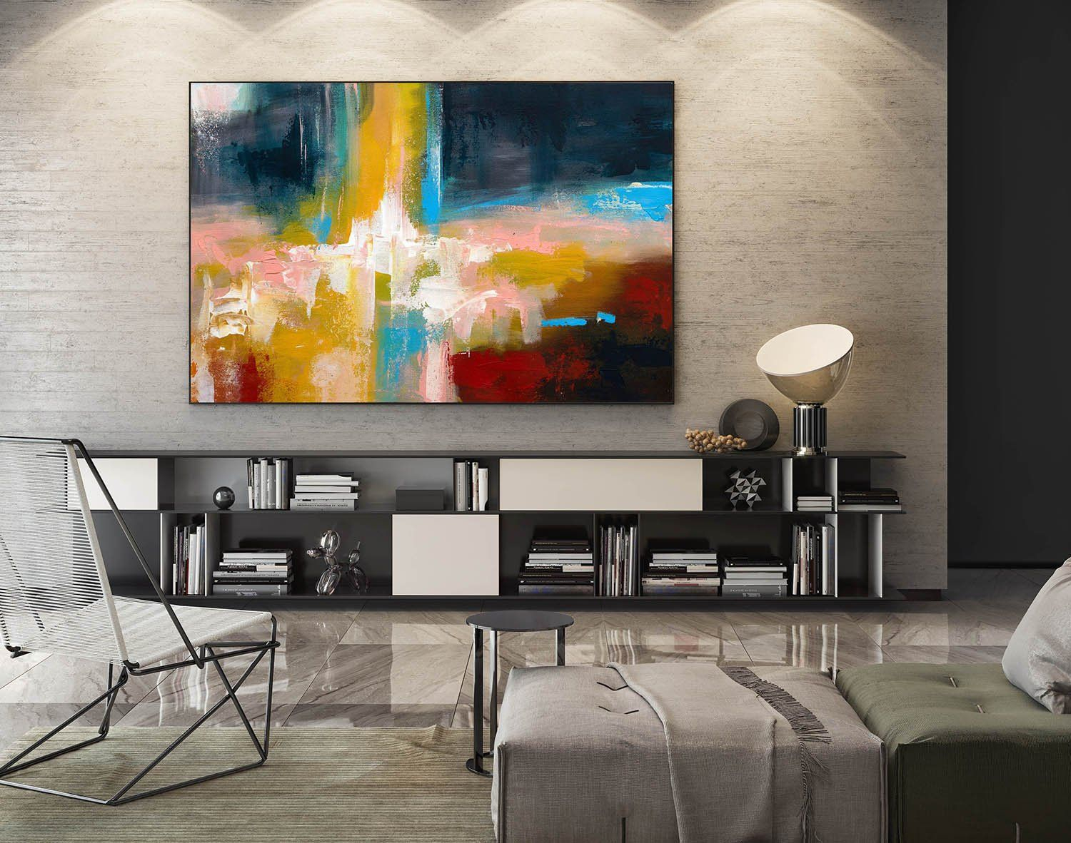 Large Modern Industrial Wall Decor With Most Recent Large Abstract Painting,modern Abstract Painting,oil Hand Painting (View 9 of 20)