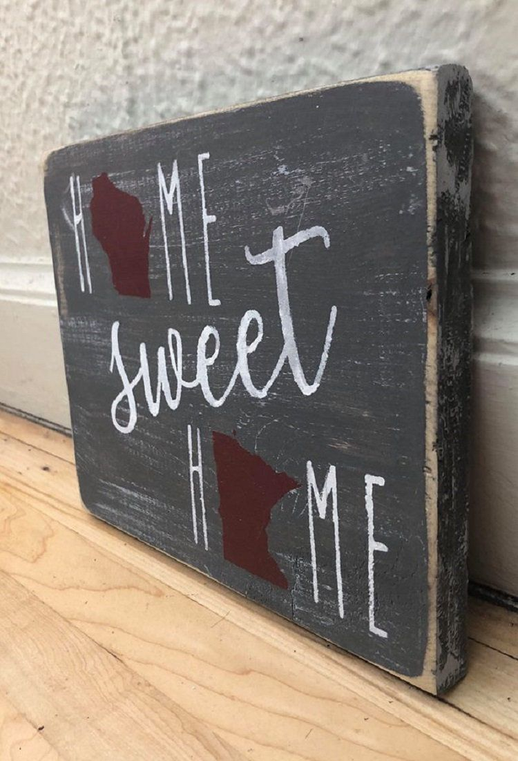 Laser Engraved Home Sweet Home Wall Decor Inside Most Current Home Sweet Home Sign (Gallery 13 of 20)