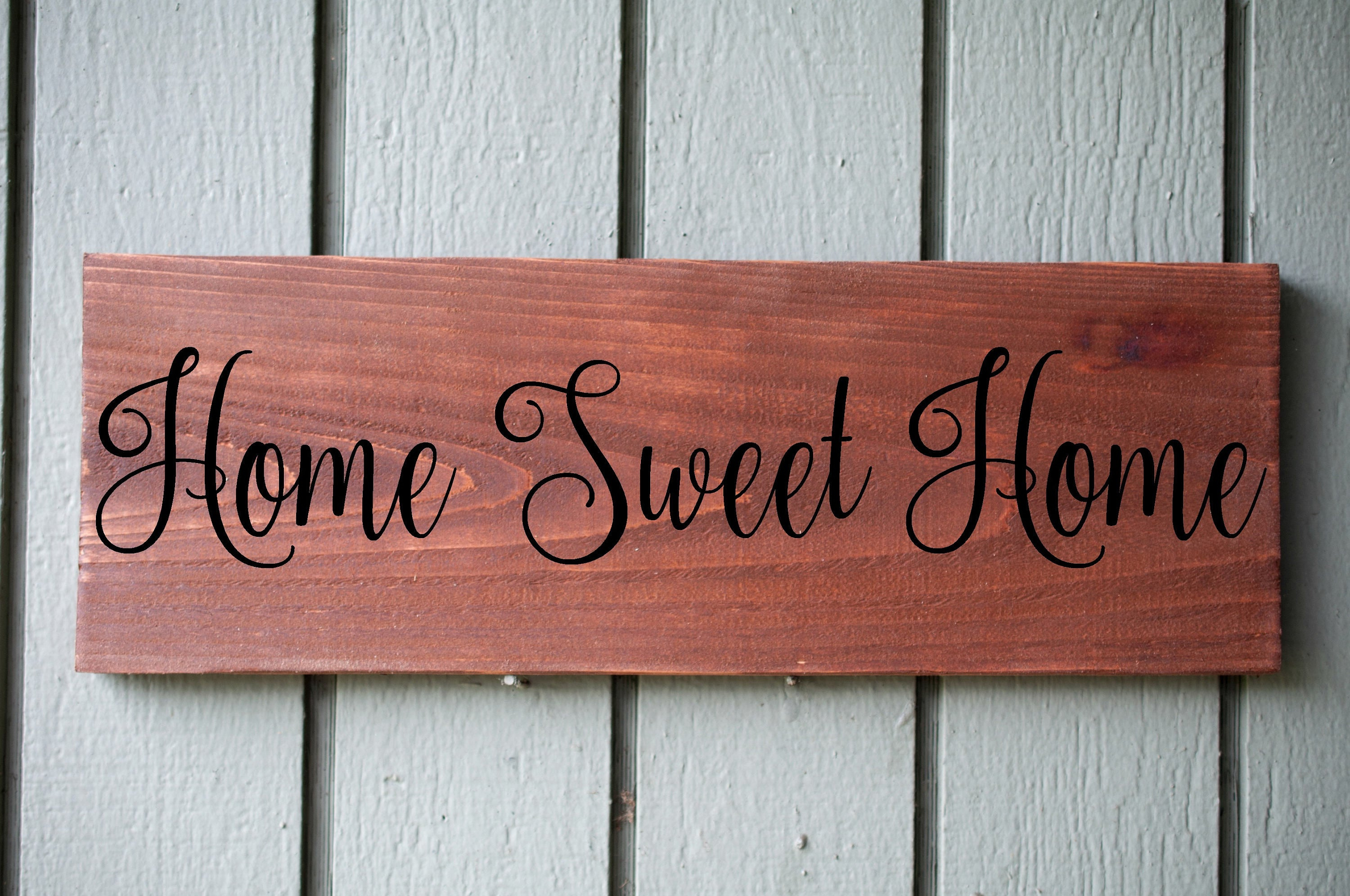 Laser Engraved Home Sweet Home Wall Decor Within Most Up To Date Home Sweet Home Custom Rustic Wood Sign Wall Hanging Home (View 3 of 20)