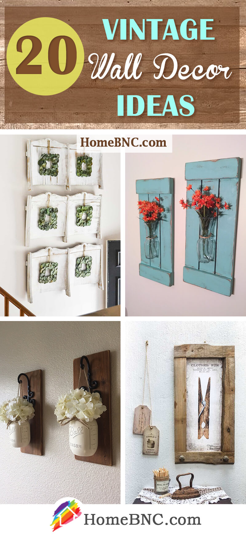 Latest 2 Piece Heart Shaped Fan Wall Decor Sets Throughout 20 Best Vintage Wall Decor Ideas And Designs For  (View 9 of 20)