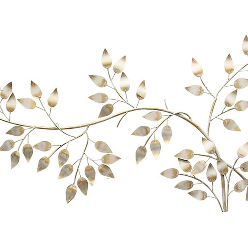 Latest Flowing Leaves Wall Decor With Regard To Stratton Home Decor Brushed Gold Flowing Leaves Wall Decor Shd (View 5 of 20)