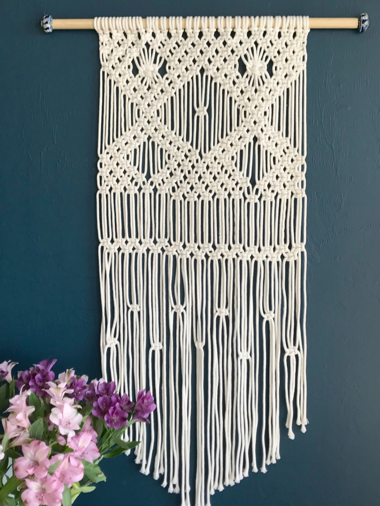 Latest Macrame Wall Hanging For Beginners – My French Twist Throughout Floral Patterned Over The Door Wall Decor (Gallery 20 of 20)