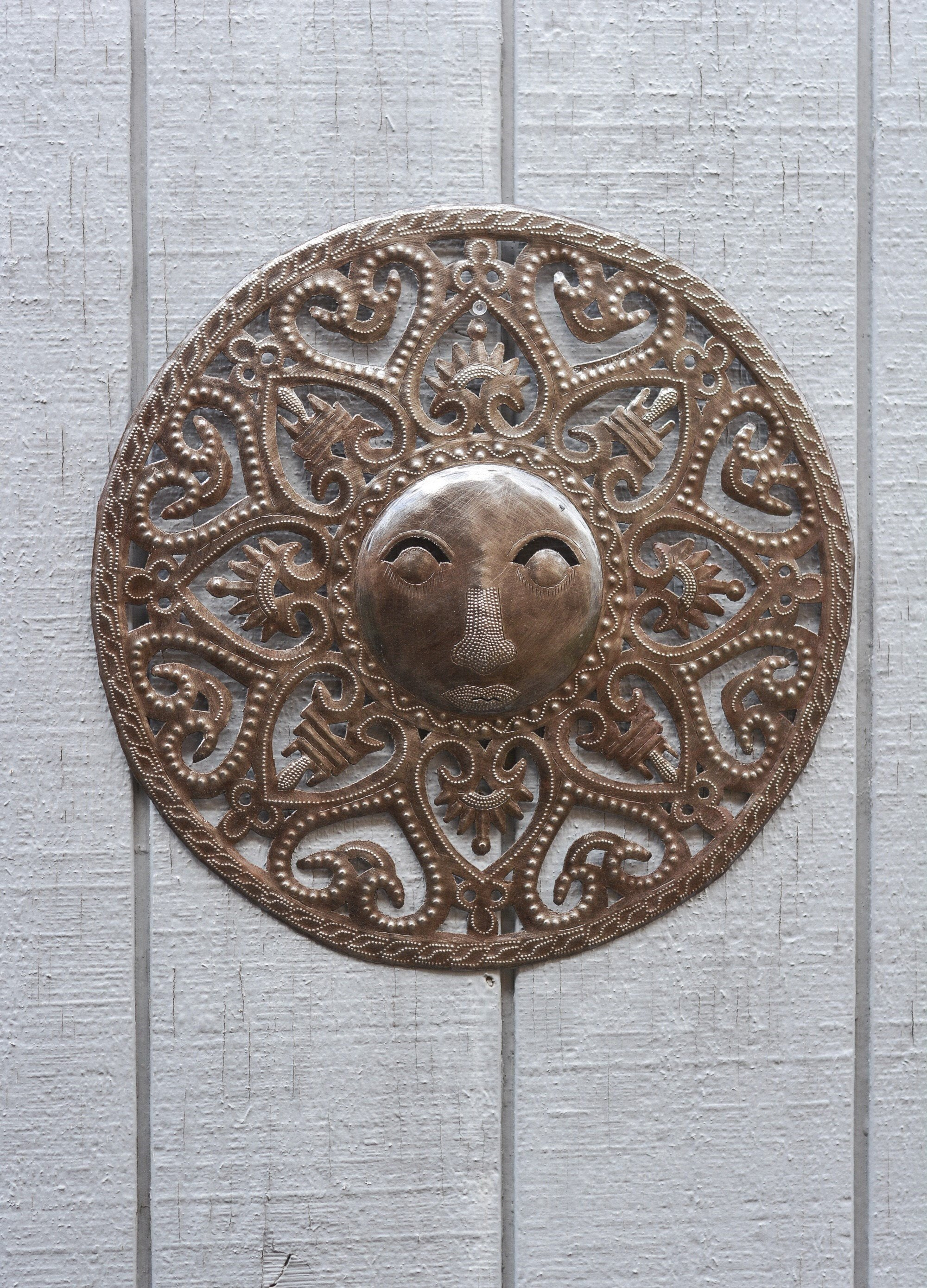 Latest Recycled Moon And Sun Wall Decor For Sun Moon Celestial – Art Under The Tree Haiti Metal Art (View 8 of 20)