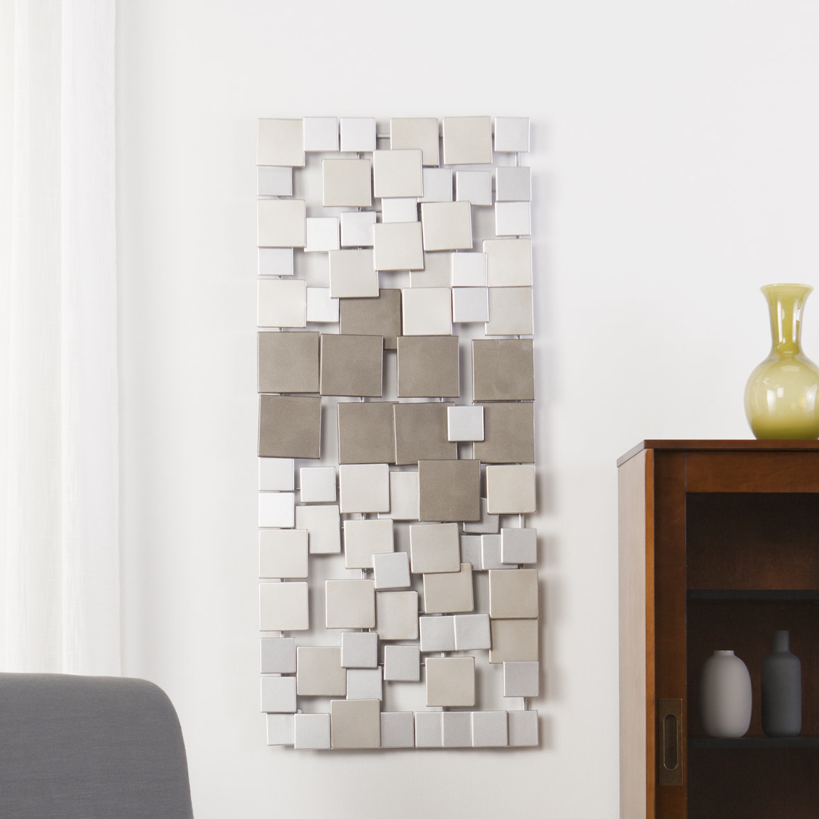 Latitude Run Contemporary Geometric Wall Décor (Gallery 1 of 20)