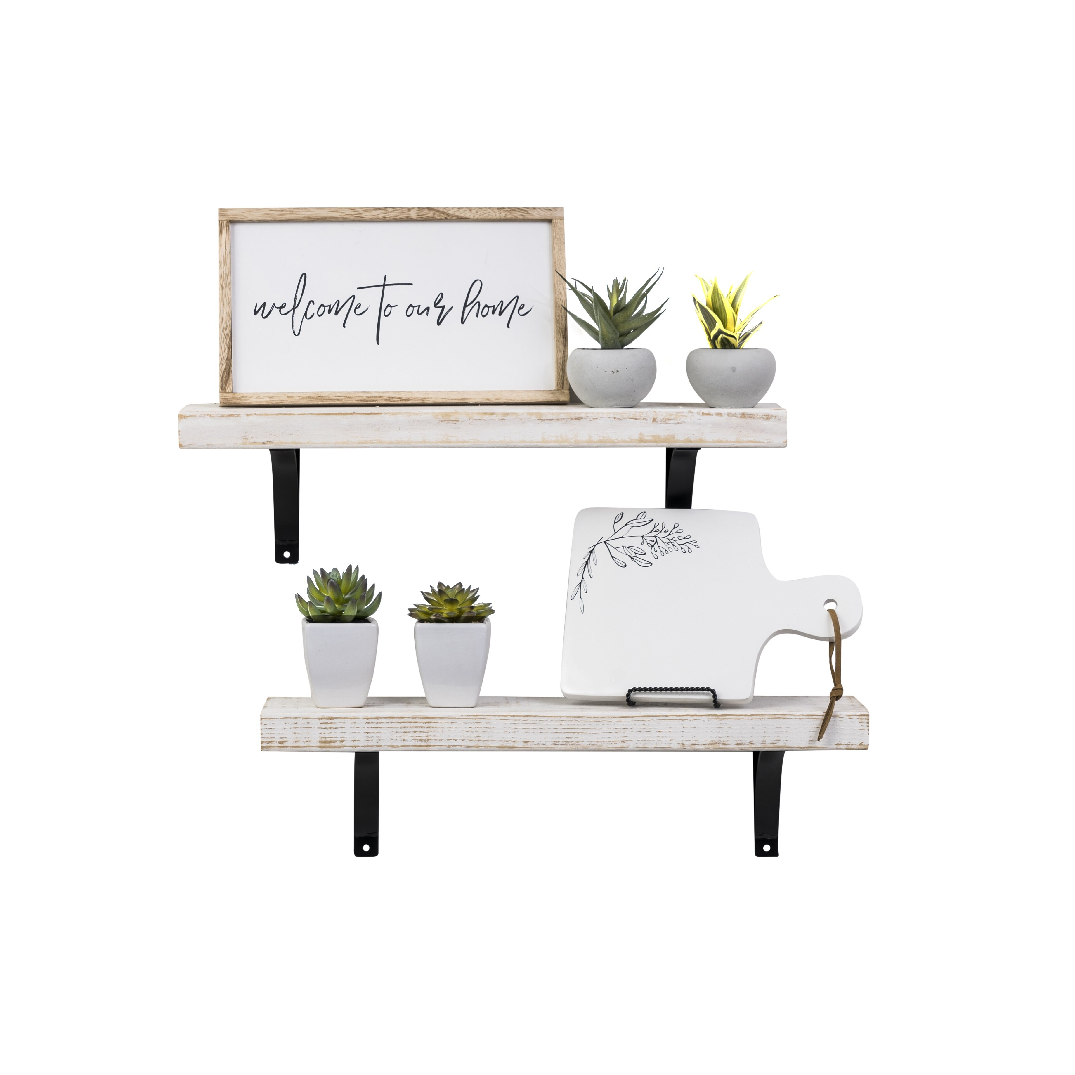Laurel Foundry Modern Farmhouse Pinecrest Industrial Grace Simple inside Current Farm Metal Wall Rack And 3 Tin Pot With Hanger Wall Decor